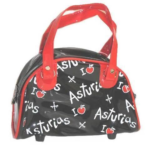 Artesania Asturiana - Bolso de mano manzanas con Asturias - Editorial Picu Urriellu