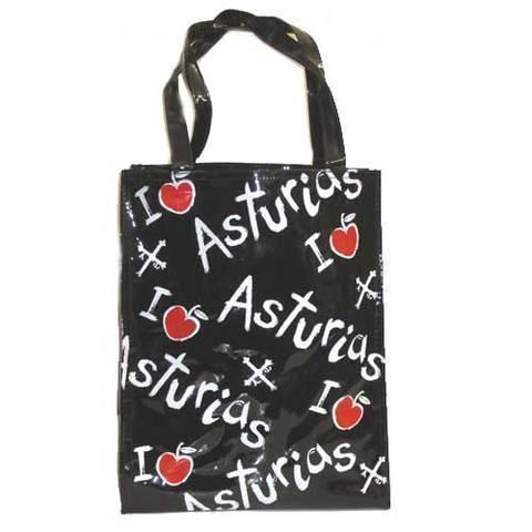 Artesania Asturiana - Bolsa playa manzanas con Asturias - Editorial Picu Urriellu