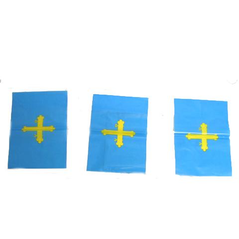 Artesania Asturiana - Tira de banderas de Asturias 10 metros - Editorial Picu Urriellu