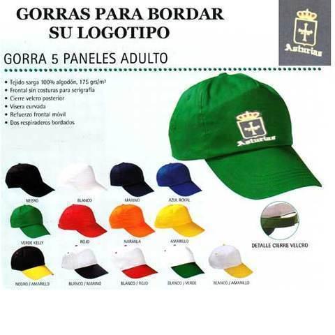 Artesania Asturiana - Gorras para bordar con su logotipo o motivo - Editorial Picu Urriellu