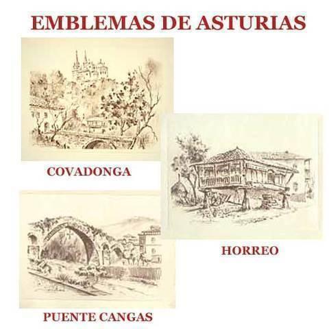 Artesania Asturiana - Carboncillos Emblemas de Asturias - Editorial Picu Urriellu