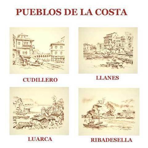 Artesania Asturiana - Carboncillos pueblos de la costa asturiana - Editorial Picu Urriellu