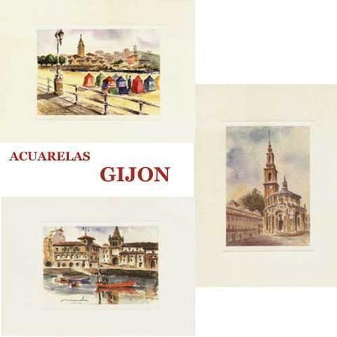 Artesania Asturiana - Acuarelas Gijon - Editorial Picu Urriellu
