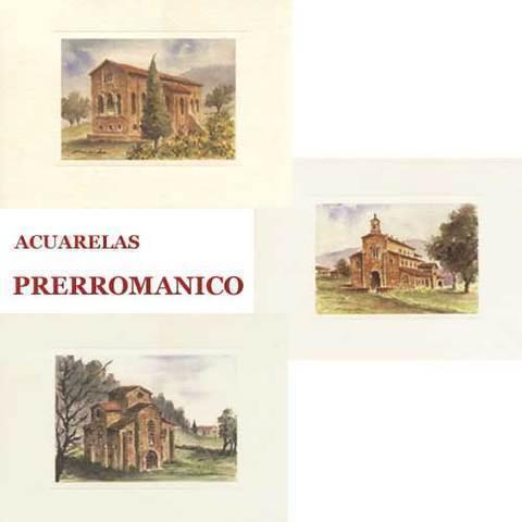 Artesania Asturiana - Acuarelas Prerromanico asturiano - Editorial Picu Urriellu