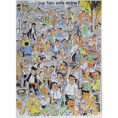 Artesania Asturiana - Poster de la sidra  � Que tien esta sidra ?