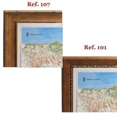 Artesania Asturiana - Enmarcacion Mapa de asturias relieve - Editorial Picu Urriellu