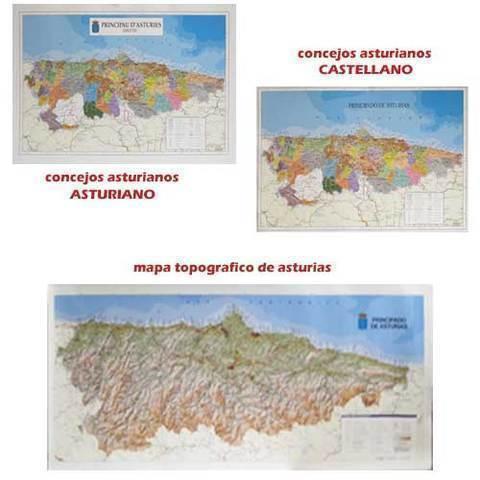 Artesania Asturiana - Mapas de asturias concejos y topografico - Editorial Picu Urriellu