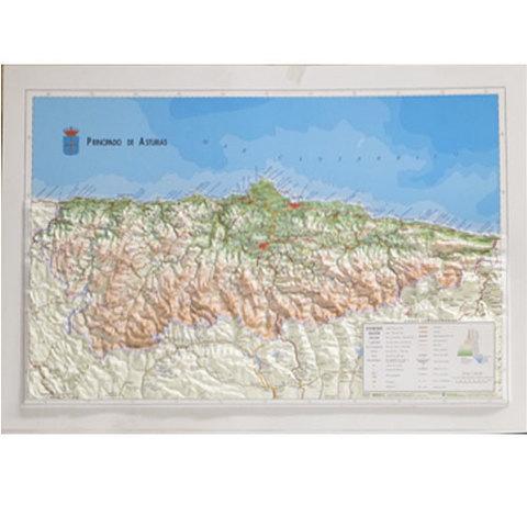 Artesania Asturiana - Mapa de asturias relieve - Editorial Picu Urriellu