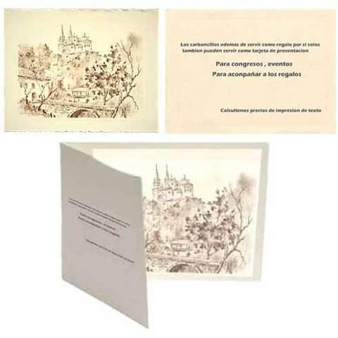 Artesania Asturiana - Tarjetas de presentacion o invitacion - Carboncillos - Editorial Picu Urriellu
