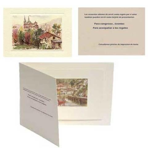 Artesania Asturiana - Tarjetas de presentacion o invitacion - Acuarelas - Editorial Picu Urriellu