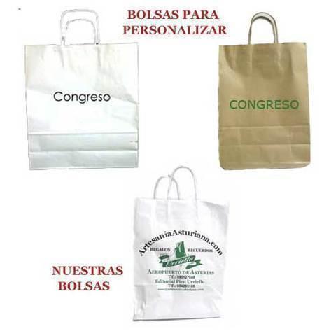 Artesania Asturiana - Bolsas grandes con asa colores y tamaños - Editorial Picu Urriellu