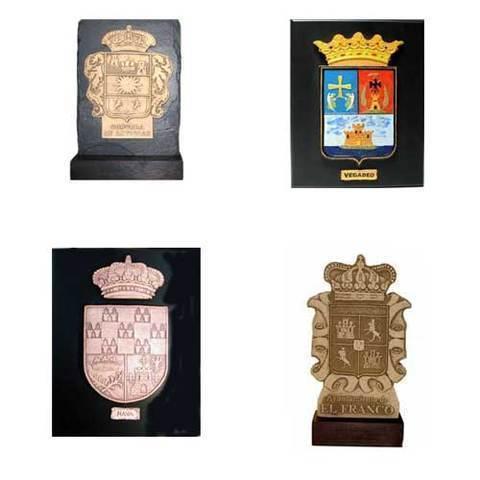 Artesania Asturiana - Placas escudos de concejos y logotipos - Editorial Picu Urriellu