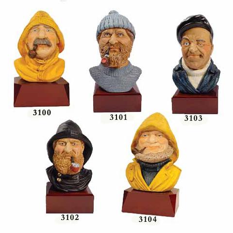 Artesania Asturiana - Bustos marineros base de madera