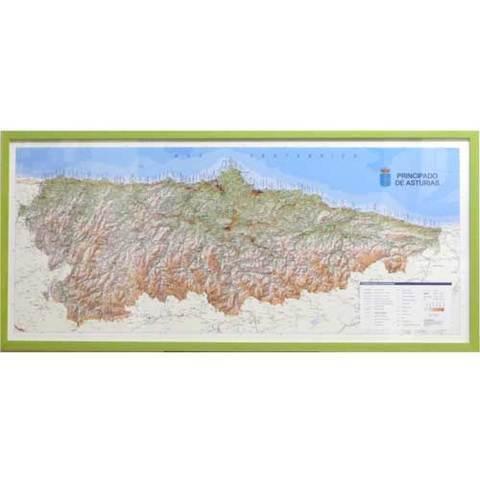 Artesania Asturiana - Mapa topografico Asturias  - Editorial Picu Urriellu