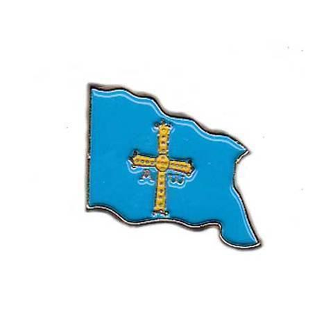 Artesania Asturiana - Pin bandera de Asturias - Editorial Picu Urriellu