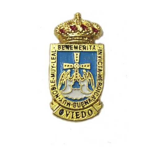 Artesania Asturiana - Pin Escudo de Oviedo - Editorial Picu Urriellu
