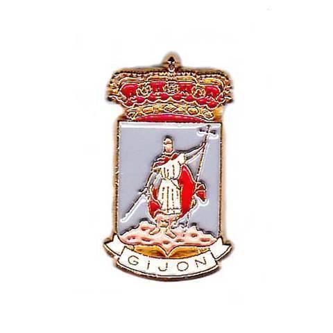 Artesania Asturiana - Pin Escudo de Gijon - Editorial Picu Urriellu