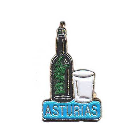 Artesania Asturiana - Pin Botella y vaso de sidra - Editorial Picu Urriellu