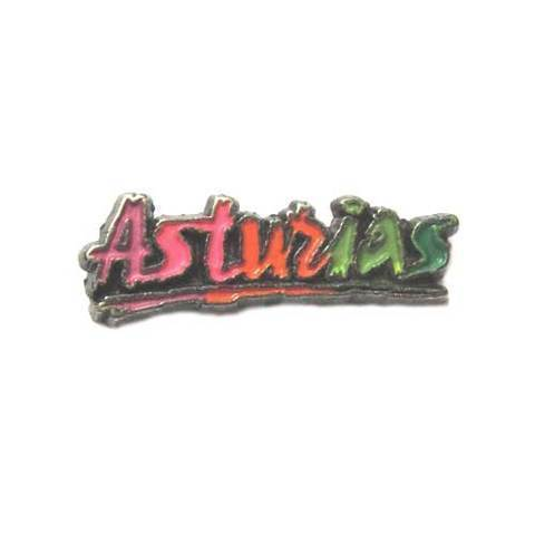 Artesania Asturiana - Pin Letras Asturias - Editorial Picu Urriellu