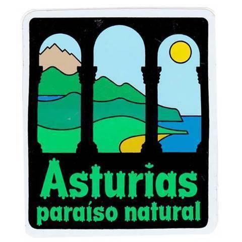 Artesania Asturiana - Pegatina Paraiso natural - Editorial Picu Urriellu
