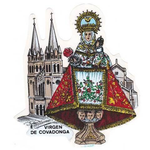 Artesania Asturiana - Pegatina Virgen de Covadonga con basilica - Editorial Picu Urriellu