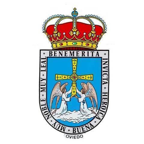 Artesania Asturiana - Pegatina Escudo de Oviedo - Editorial Picu Urriellu