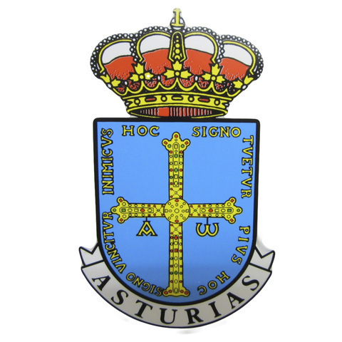 Artesania Asturiana - Pegatina Escudo principado de Asturias - Editorial Picu Urriellu