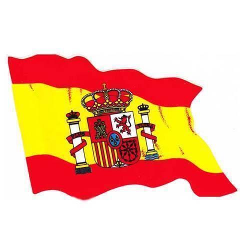Artesania Asturiana - Pegatina Bandera de España - Editorial Picu Urriellu