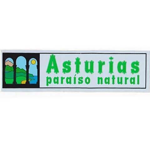 Artesania Asturiana - Pegatina Paraiso natural rectangular - Editorial Picu Urriellu