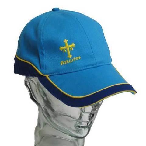 Editorial Picu Urriellu -  Gorras bordadas cruz victoria - azul claro-adulto