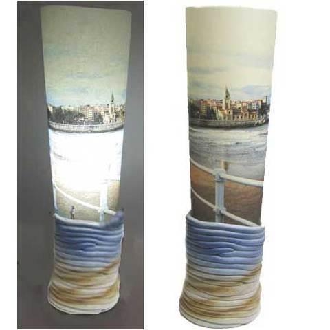 Artesania Asturiana - Lampara ceramica diseño sobremesa - Editorial Picu Urriellu