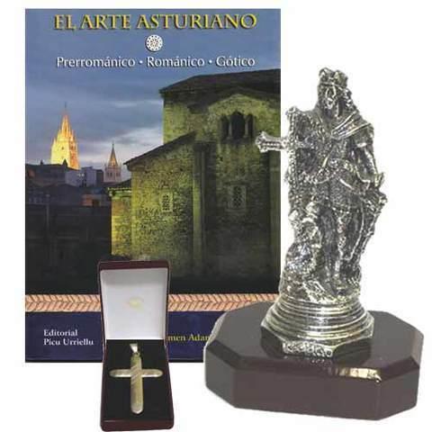 Artesania Asturiana - Pelayo baño plata + Libro El arte asturiano - Editorial Picu Urriellu