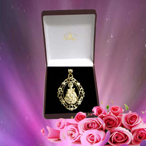 Artesania Asturiana - Medalla Virgen de Covadonga orla - oro - Editorial Picu Urriellu