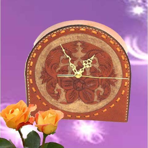 Artesania Asturiana - Reloj cuero artesanal - Editorial Picu Urriellu