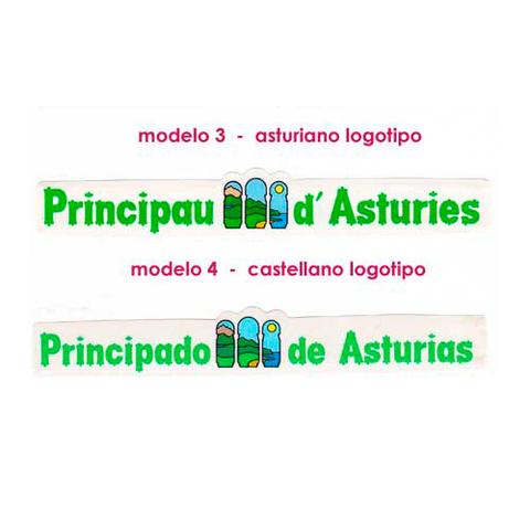 Artesania Asturiana - Pegatinas Letras principado de Asturias - logotipo - Editorial Picu Urriellu
