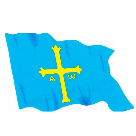 Artesania Asturiana - Pegatina Bandera de Asturias - Editorial Picu Urriellu