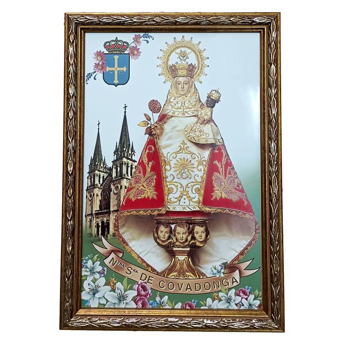 Artesania Asturiana - Azulejo Virgen Covadonga basilica - Editorial Picu Urriellu