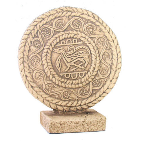 Artesania Asturiana - Medallon Santa Maria del Naranco peana - Editorial Picu Urriellu