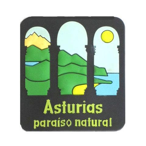 Artesania Asturiana - Iman goma Paraiso natural  - Editorial Picu Urriellu