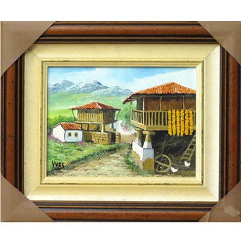 Artesania Asturiana - Paisaje asturiano - oleo original - Editorial Picu Urriellu