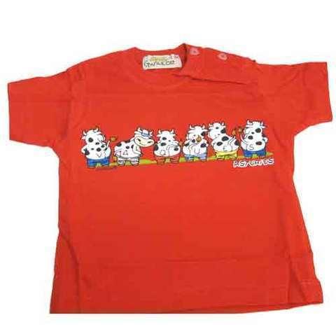 Artesania Asturiana - Camiseta vaquines - color rojo - Editorial Picu Urriellu