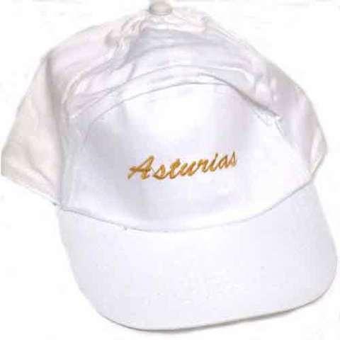 Artesania Asturiana - Gorras Asturias bordado - blancas - niños - Editorial Picu Urriellu