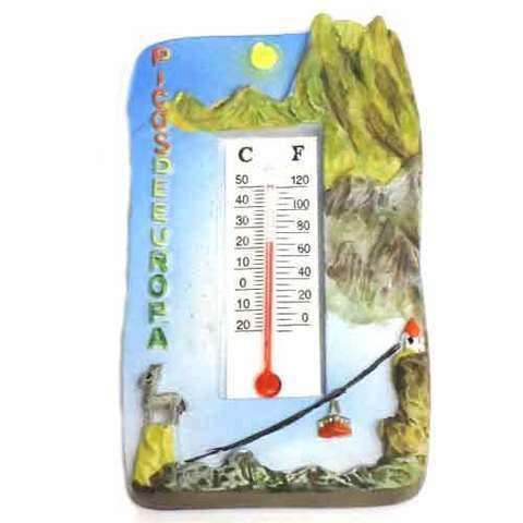 Artesania Asturiana - Iman termometro Picos de Europa  - Editorial Picu Urriellu