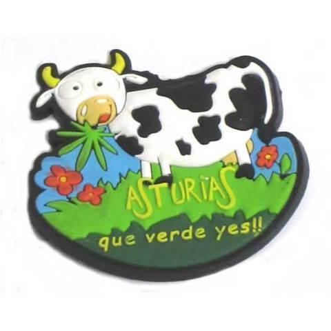 Artesania Asturiana - Imanes goma  Asturias que verde yes  - Editorial Picu Urriellu