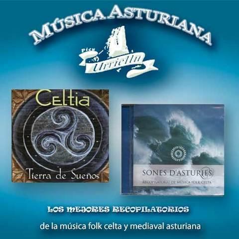Artesania Asturiana - Recopilatorios de la musica folk y mediaval asturiana - Editorial Picu Urriellu