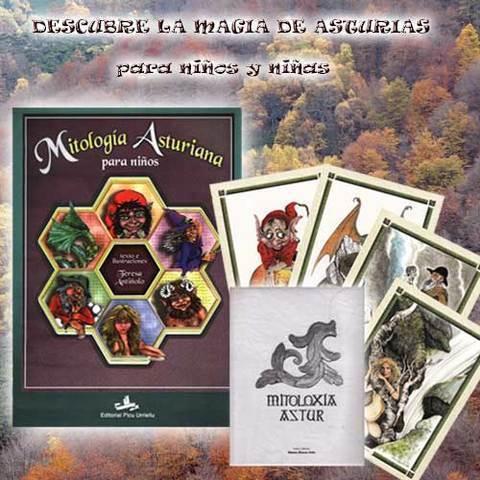 Artesania Asturiana - Para niños y niñas libro y carpeta mitoloíia - Editorial Picu Urriellu