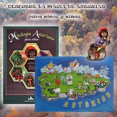 Artesania Asturiana - Para niños y niñas libro mitoloíia y puzzle Asturias