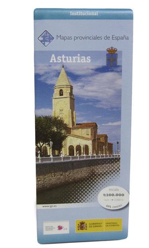 Artesania Asturiana - Mapa provincial de  Asturias Escala 1:200.000 (1cm-2000m) - Editorial Picu Urriellu