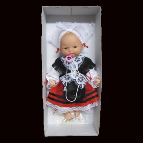 Artesania Asturiana - Muñeca asturiana infantil con traje tradicional - Caja - Editorial Picu Urriellu