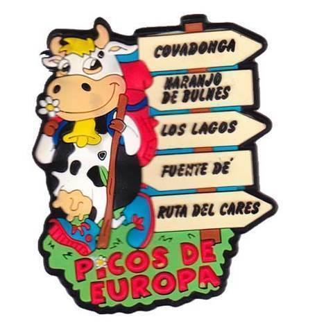 Artesania Asturiana -  Iman goma Vaca escanciadora señales  - Editorial Picu Urriellu